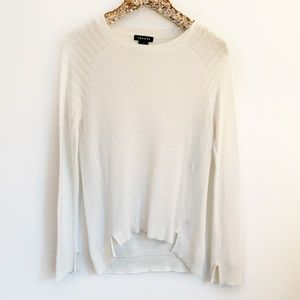 Trouve Knit Sweater in White